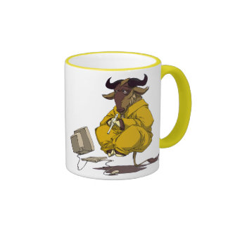 Gnu meditate levitate ringer mug