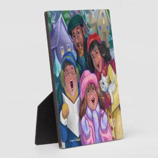 Go a Caroling Illustration Plaque