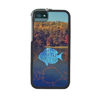 Go Against the Flow Fish Silhouette in Autumn Lake iPhone 5/5S Cases