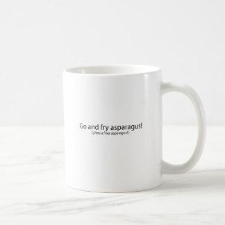 Go and fry esparagus basic white mug