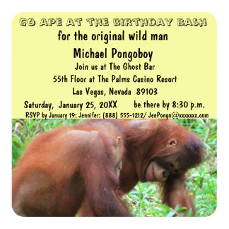 Go Ape Birthday Bash Card