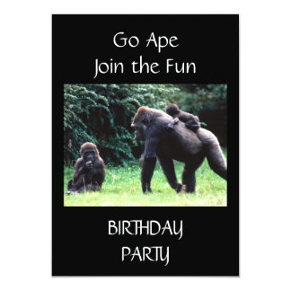 **GO APE** BIRTHDAY PARTY INVITATION