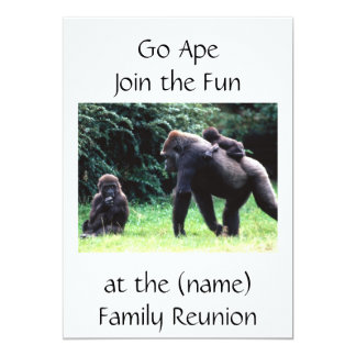 GO APE FAMILY REUNION INVITATION