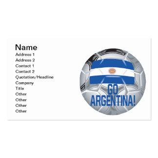 Go Argentina Pack Of Standard Business Cards