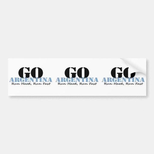 Go Argentina Run Fast Bumper Stickers