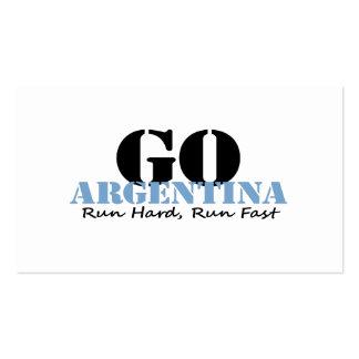 Go Argentina Run Fast Business Card Template