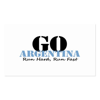 Go Argentina Run Fast Pack Of Standard Business Cards