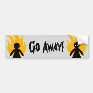 Go Away! Bumper Sticker