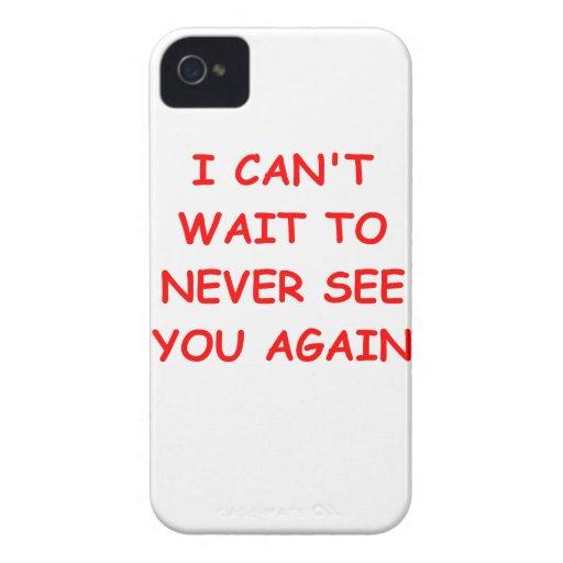go away iPhone 4 Case-Mate cases