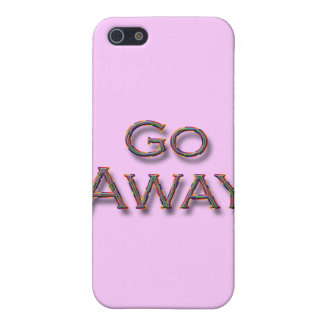 Go Away colrfl Covers For iPhone 5