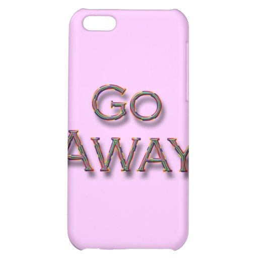 Go Away colrfl iPhone 5C Covers