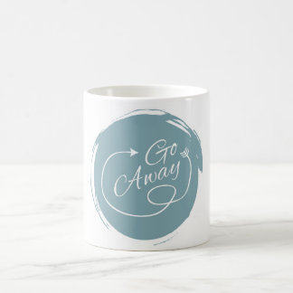 Go Away Funny Typography Modern Arrow Minimalist Coffee Mug