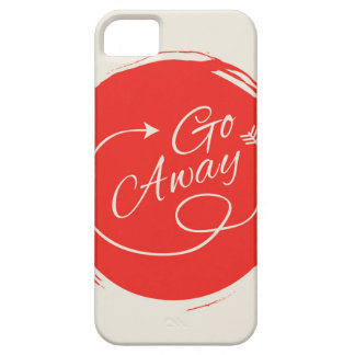 Go Away Funny Typography Modern Arrow Minimalist iPhone 5 Cases