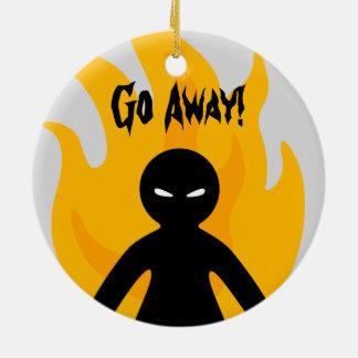 Go Away!Go Away! Round Ceramic Decoration