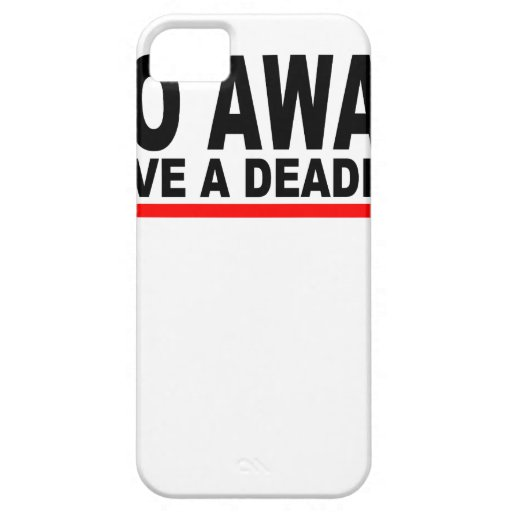 Go away, I have a deadline T-Shirts.png iPhone 5 Cover