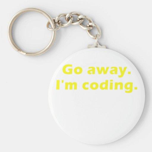 Go Away Im Coding Keychain