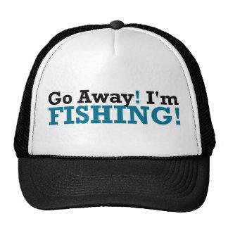 Go Away! I'm Fishing! - Blue Trucker Hat