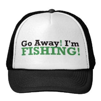 Go Away! I'm Fishing! - Green Mesh Hats