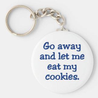 Go away; I'm on a break (2) Basic Round Button Key Ring