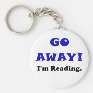 Go Away Im Reading Keychains