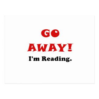 Go Away Im Reading Postcard