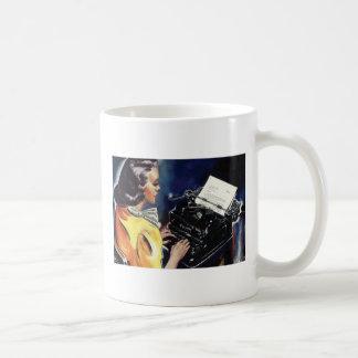 Go away! I'm writing!--Tell them you mean business Basic White Mug