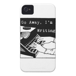 Go away I'm writing typewriter iPhone 4 Case-Mate Cases