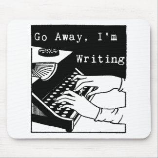 Go away I'm writing typewriter Mouse Mat