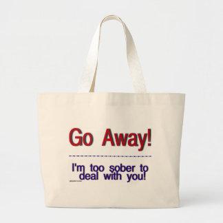 go away jumbo tote bag