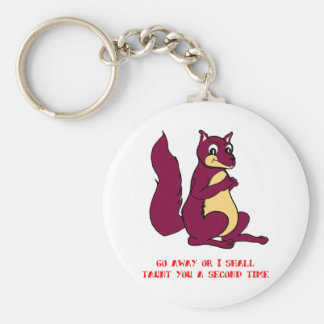 Go away or I shall taunt you a second time Key Chain