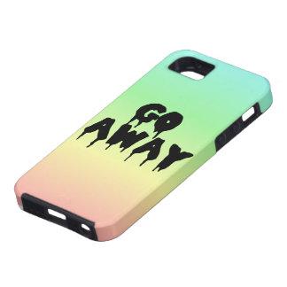 """""""Go Away"""" Rainbow Gradient Case iPhone 5 Cases"""