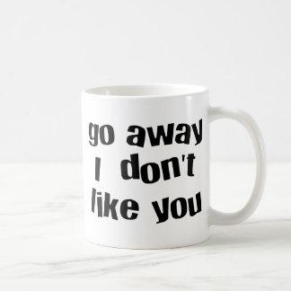 go away whit basic white mug