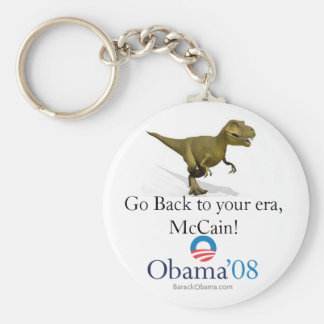 Go Back to your era, McCain! Basic Round Button Key Ring