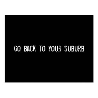 go back to your suburb post card