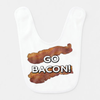 Go Bacon! Baby Bibs