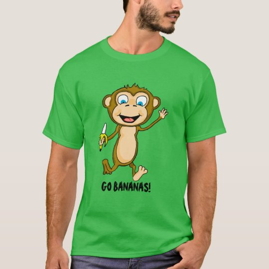 Go Bananas Men's Basic Dark T-Shirt