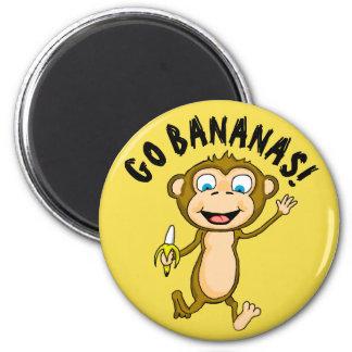 Go Bananas Round Magnet