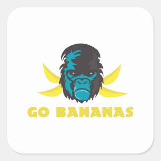 Go Bananas Square Stickers