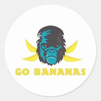 Go Bananas Round Stickers