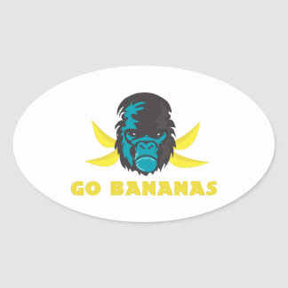 Go Bananas Oval Sticker