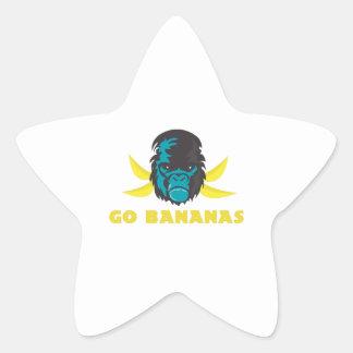 Go Bananas Star Stickers