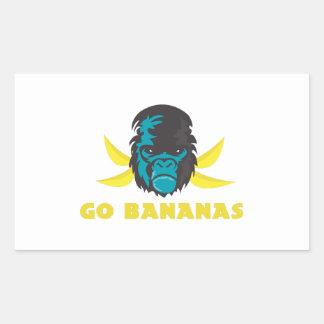 Go Bananas Rectangular Stickers