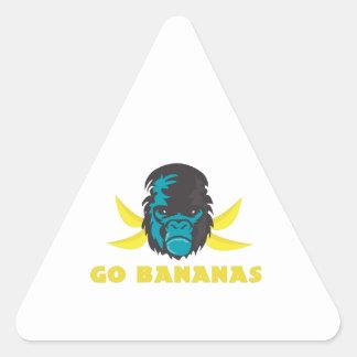Go Bananas Triangle Sticker