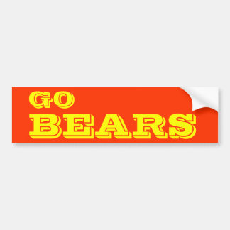 Go Bears* Bumper Sticker