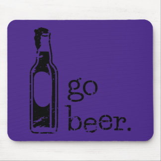 Go Beer with Beer Bottle Any Team Colors Mouse Pad