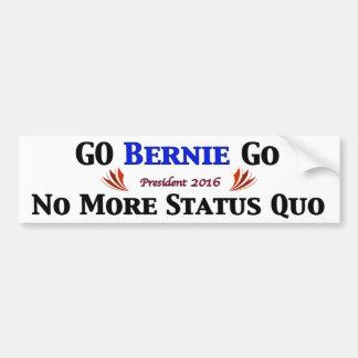 Go BERNIE Go  (White Bkgrd) Bumper Sticker