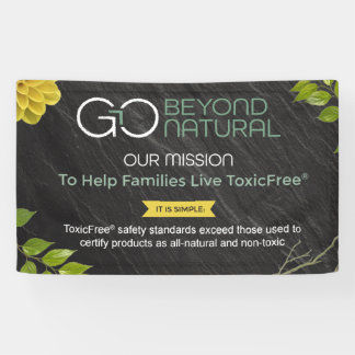 Go Beyond Natural 3' x 5' Banner