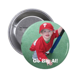 Go Big Al! - II 6 Cm Round Badge