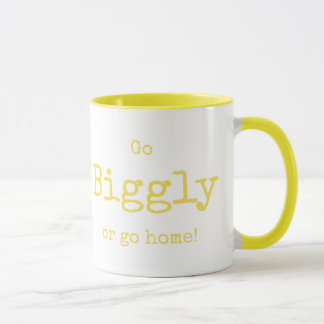 """""""Go Biggly or go Home"""" Personalize Bright Yellow Mug"""