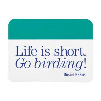 Go Birding! Rectangular Photo Magnet
